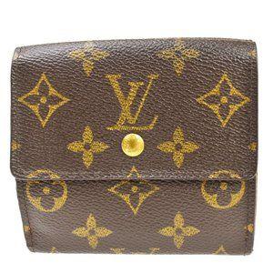 Auth LOUIS VUITTON Portefeuille Elise Bifold Wallet Monogram Leather